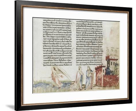 Divine Comédie de Dante. L'Enfer avec un commentaire de Fra Guido de Pise--Framed Art Print