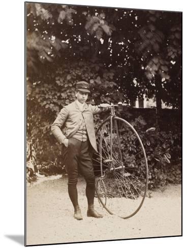 Edouard Eiffel, tenant un bicycle-Alexandre-Gustave Eiffel-Mounted Giclee Print