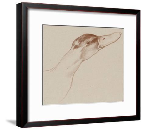 Tête de canard-Edme Bouchardon-Framed Art Print