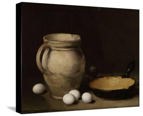Les oeufs-Antoine Vollon-Stretched Canvas Print