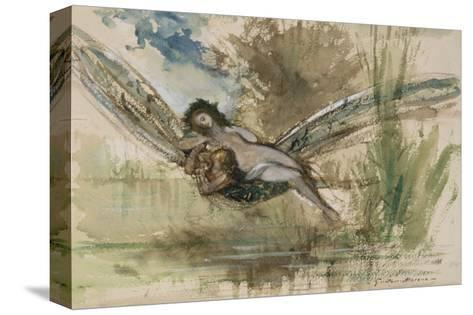 Libellule-Gustave Moreau-Stretched Canvas Print