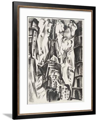 La Tour Eiffel-Robert Delaunay-Framed Art Print