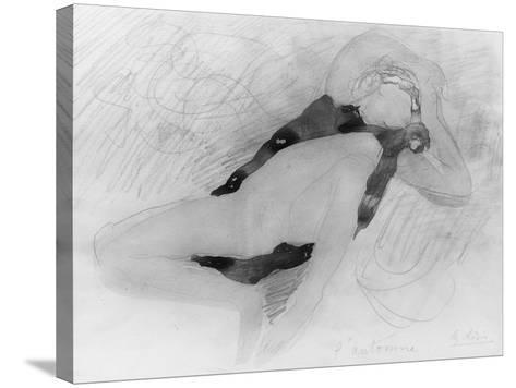 Dessin-Auguste Rodin-Stretched Canvas Print