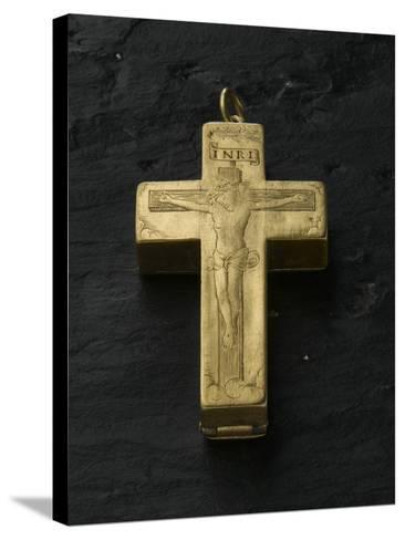 Cadran solaire équinoxial en forme de croix reliquaire-Adrien Zeelst-Stretched Canvas Print