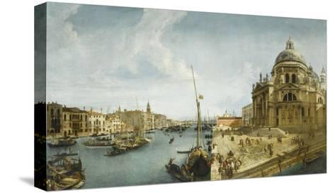 Entrée du Grand Canal et l'église de la Salute à Venise-Michele Marieschi-Stretched Canvas Print