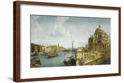 Entrée du Grand Canal et l'église de la Salute à Venise-Michele Marieschi-Framed Art Print