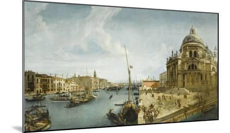 Entrée du Grand Canal et l'église de la Salute à Venise-Michele Marieschi-Mounted Giclee Print