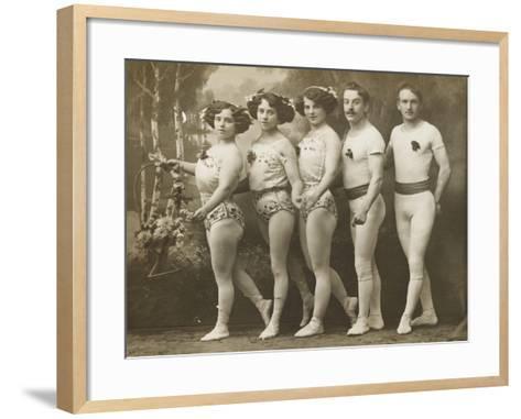 Ella Vendaro Truppe (Sept. 1911). Frei sep 1 - 1911--Framed Art Print