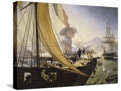 Episode de l'expédition du Mexique en 1838,-Horace Vernet-Stretched Canvas Print