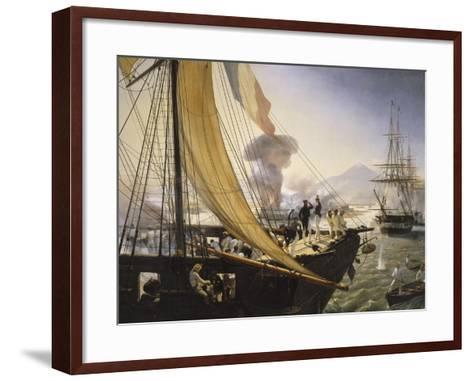 Episode de l'expédition du Mexique en 1838,-Horace Vernet-Framed Art Print