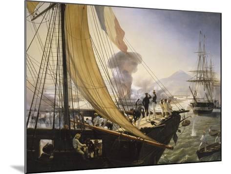 Episode de l'expédition du Mexique en 1838,-Horace Vernet-Mounted Giclee Print