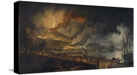 Eruption du Vésuve et vue de Portici-Pierre Jacques Volaire-Stretched Canvas Print