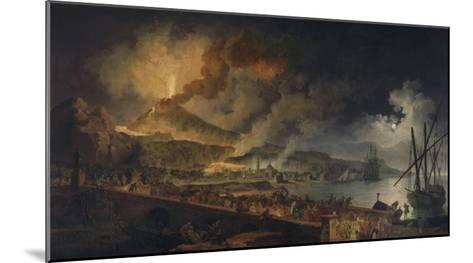 Eruption du Vésuve et vue de Portici-Pierre Jacques Volaire-Mounted Giclee Print