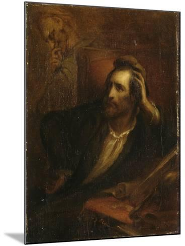 Faust dans son cabinet-Ary Scheffer-Mounted Giclee Print