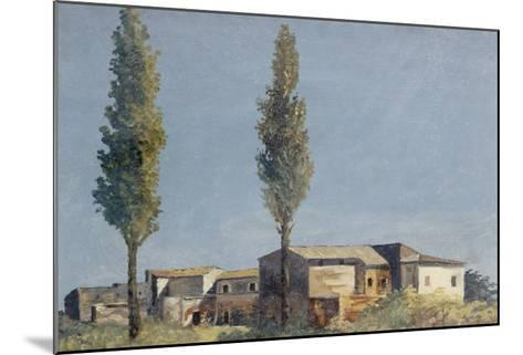 Fabriques à la villa Farnèse : les deux peupliers-Pierre Henri de Valenciennes-Mounted Giclee Print