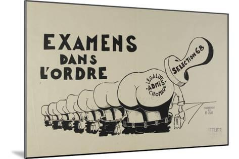Examens dans l'ordre--Mounted Giclee Print
