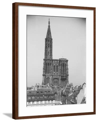 Façade de la cathédrale de Strasbourg--Framed Art Print