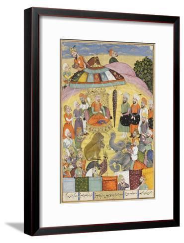 Shahnameh de Ferdowsi ou le Livre des Rois. Sohrab regarde la tente panachés du roi.--Framed Art Print