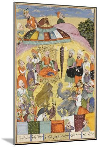 Shahnameh de Ferdowsi ou le Livre des Rois. Sohrab regarde la tente panachés du roi.--Mounted Giclee Print