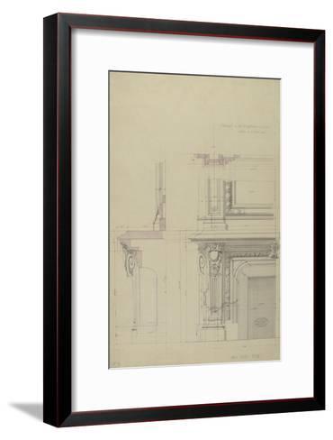 Cheminée  et partie inférieure  de son encadrement-Antoine Zoegger-Framed Art Print
