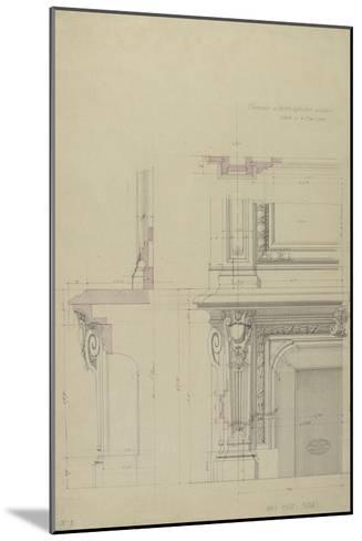 Cheminée  et partie inférieure  de son encadrement-Antoine Zoegger-Mounted Giclee Print