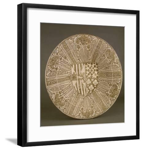 Plat aux armes de l'Infant Juan d'Aragon et de Blanche de Navarre--Framed Art Print
