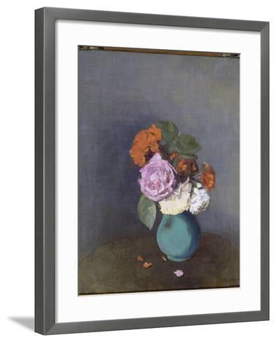 Fleurs-Odilon Redon-Framed Art Print