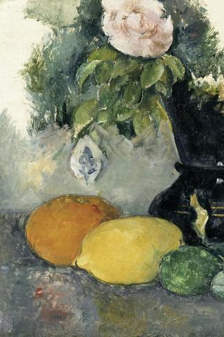 Fleurs et fruits-Paul C?zanne-Stretched Canvas Print