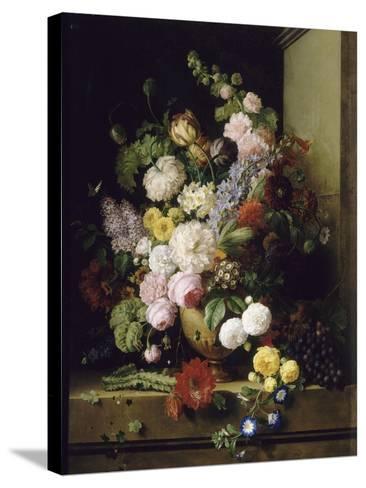 Fleurs et raisins-Antoine Chazal-Stretched Canvas Print