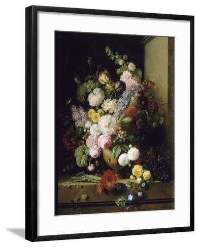 Fleurs et raisins-Antoine Chazal-Framed Art Print