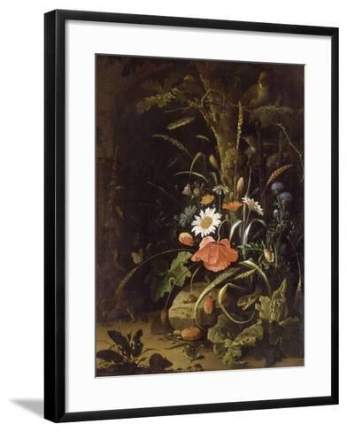 Fleurs, oiseaux, insectes et reptiles-Abraham Mignon-Framed Art Print