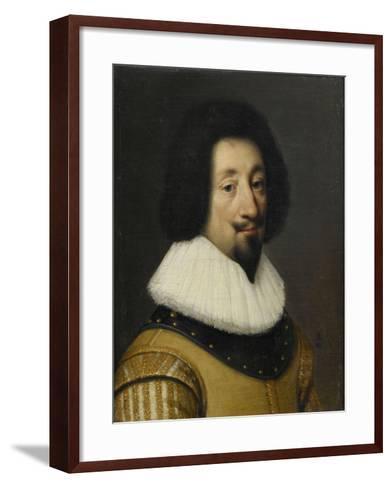 François de l'Aubépine, marquis d'Hauterive-Daniel Dumonstier-Framed Art Print