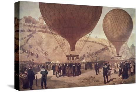 Départ de Gambetta pour Tours sur l'Armand-Barbès, le 7 octobre 1870, à Montmartre-Jules Didier-Stretched Canvas Print