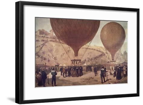 Départ de Gambetta pour Tours sur l'Armand-Barbès, le 7 octobre 1870, à Montmartre-Jules Didier-Framed Art Print