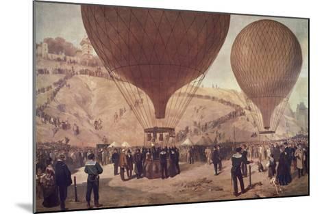Départ de Gambetta pour Tours sur l'Armand-Barbès, le 7 octobre 1870, à Montmartre-Jules Didier-Mounted Giclee Print