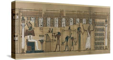 Papyrus funéraire de Nesmin : le défunt est introduit auprès d'Osiris--Stretched Canvas Print