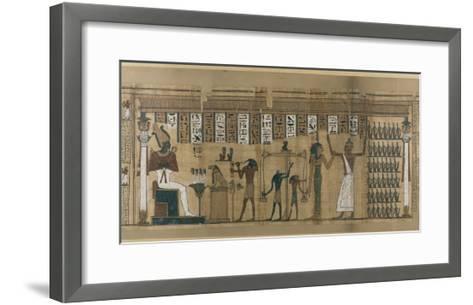 Papyrus funéraire de Nesmin : le défunt est introduit auprès d'Osiris--Framed Art Print