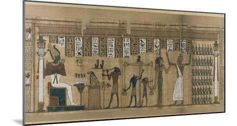 Papyrus funéraire de Nesmin : le défunt est introduit auprès d'Osiris--Mounted Giclee Print