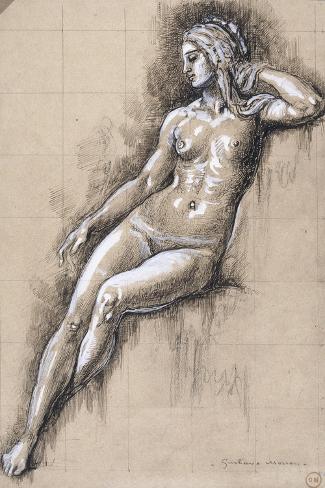Galatée-Gustave Moreau-Stretched Canvas Print