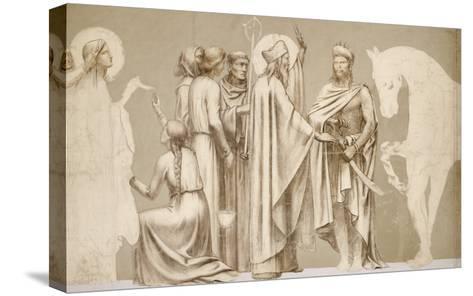 Friesland for the Decoration of the Pantheon: Saints-Pierre Puvis de Chavannes-Stretched Canvas Print