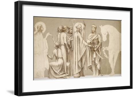 Friesland for the Decoration of the Pantheon: Saints-Pierre Puvis de Chavannes-Framed Art Print
