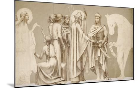 Friesland for the Decoration of the Pantheon: Saints-Pierre Puvis de Chavannes-Mounted Giclee Print