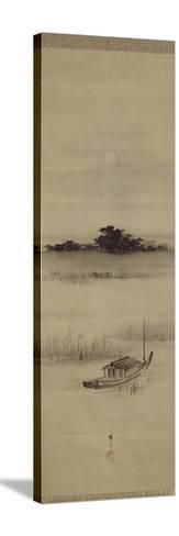 La pleine lune ? Mimeguri-Ando Hiroshige-Stretched Canvas Print
