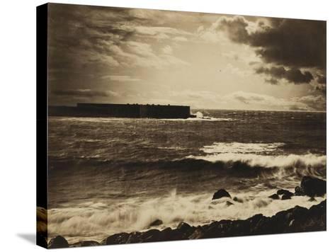 Grande vague, Sète - n°17-Gray Gustave Le-Stretched Canvas Print