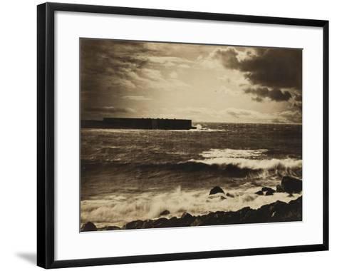 Grande vague, Sète - n°17-Gray Gustave Le-Framed Art Print