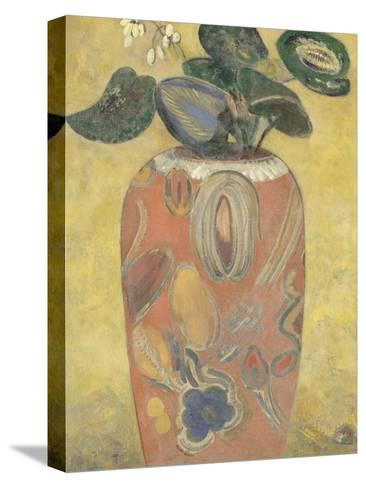 Plante verte dans une urne-Odilon Redon-Stretched Canvas Print