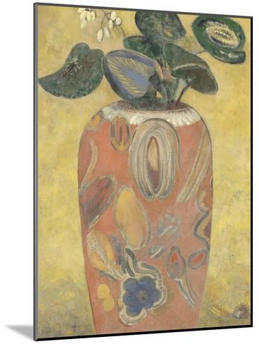 Plante verte dans une urne-Odilon Redon-Mounted Giclee Print