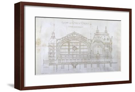 Gare d'Orsay (Paris) : coupe transversale-Victor Laloux-Framed Art Print