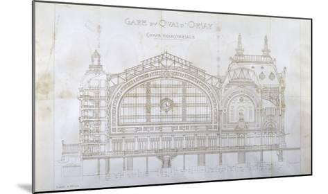 Gare d'Orsay (Paris) : coupe transversale-Victor Laloux-Mounted Giclee Print