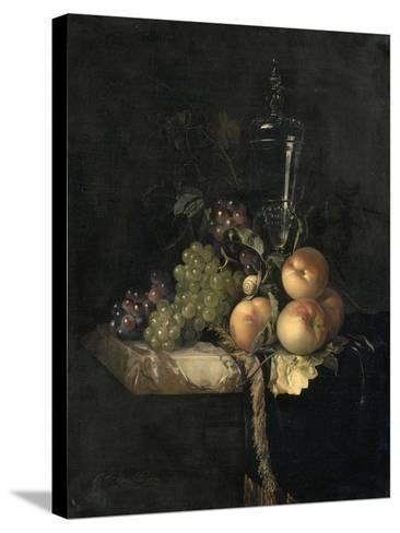 Raisins et pêches-Willem Van Aelst-Stretched Canvas Print
